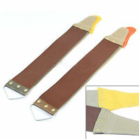 Leather Sharpening Canvas Strop Barber Open Straight Razor Perfect Shave Tool C