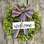 Patriotic Holiday Wreath & Welcome Sign. 14 in Wreath