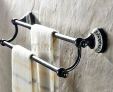 Oil Rubbed Brass Wall Mounted DoubleTowel Bar Holder Bathroom Accessories mba060