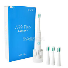 1X Rechargeable Sonic Electric Toothbrush Oral Care USA DuPont  w/ 4 Heads Italy