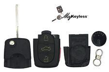 New Audi Replacement Remote Key Fob Case DIY Repair Kit W/ Battery