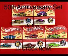 Hot Wheels 50th Anniversary Redline Set Of 5 ,Camaro,Mustang,Beetle, 2018