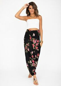 2 in 1 Harem Trousers and Bandeau Jumpsuit Printed