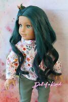 American Girl doll TEAL OMBRE  Premium wig Fits most 18''dolls Blythe OG