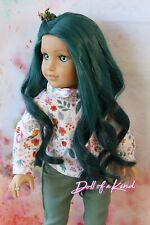 American Girl doll Teal Ombre Premium wig Fits most 18'dolls Blythe Og