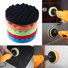 5Pcs 7'' Sponge Foam Waffle Polishing Buffer Pad Kit For Auto Car Truck Polisher