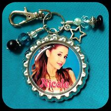 Personalized ARIANA GRANDE Bottle Cap Name Necklace Jewelry, Zipper Pull Pendant