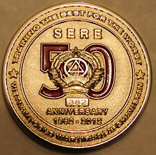 Survival Evasion Resistance Escape SERE 50th Ser #382 Navy Marine Challenge Coin