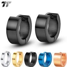 Quality TT S.Steel Hoop Earrings Mens & Womens Size 10-20mm Width 2-7mm PairEH01
