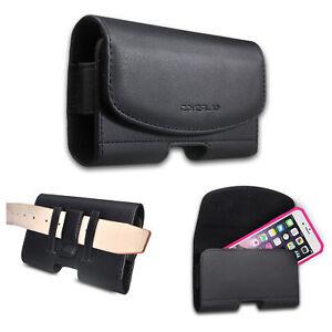 Tmobile Revvl Plus REVVL+ Case, Leather Belt Clip Holster Pouch Cover