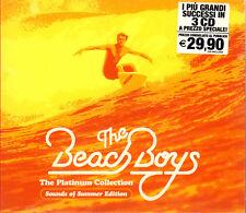 """THE BEACH BOYS """" THE PLATINUM COLLECTION """" BOX 3 CD SIGILLATO CAPITOL EMI 1987"""