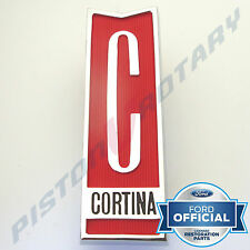 CORTINA Grille Badge , Chrome, Brand New for FORD MK2 MKII Super deluxe GT Grill