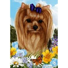 Summer House Flag - Yorkshire Terrier Yorkie Show Cut 18233