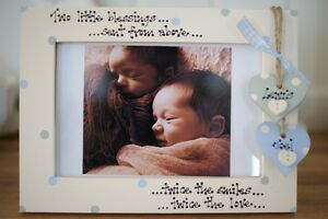 Personalised Photo Frame by Filly Folly! Twins, New Baby Gift! 6x4''