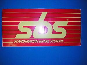 SBS Van Sticker New. Size 43cm x 20cm.