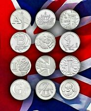 2018 Alphabet 10p Coins A-Z Great British Coin Hunt BU Uncirculated  ROYAL MINT