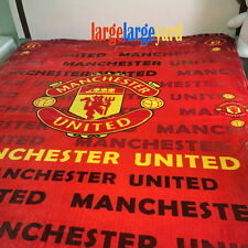 """Manchester United Flannel Blanket Football Club Bedding 59""""X79"""" Soccer very soft"""