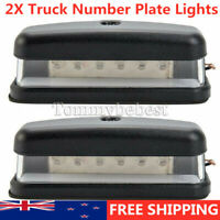 2pcs 6 LED REAR LICENSE NUMBER PLATE LIGHT TRUCK CARAVAN TRAILER LORRY 10-30V