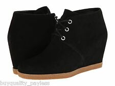 Cole Haan Leslie Black Suede Wedge FASHION Ankle Boot Womens 10.5 NEW IN BOX