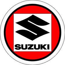 "#675 (1) 3.5"" Suzuki Vintage Round Laminated Reproduction Decal Sticker RED S"
