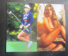 8x10 photo Belen Mozo, pretty sexy celebrity LPGA golf star, posed & action