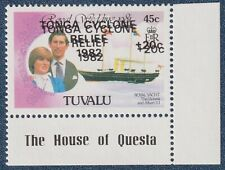 TUVALU  1982 TONGA CYCLONE RELIEF  'DOUBLED'  Marginal (C419)