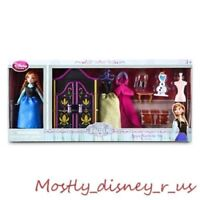 New Disney Store Frozen Anna Mini Princess Queen Figurine Doll Wardrobe Playset