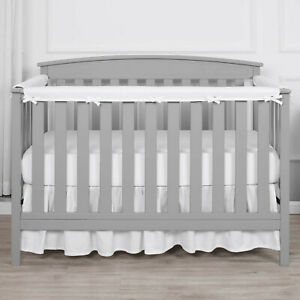 TILLYOU 3-Piece Set Padded Baby Crib Rail Cover Safe Teething Reversable Soft