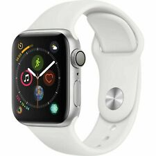 Apple Watch Series 4 40 mm Silver Aluminum Case with White Band MU642LL/A-new