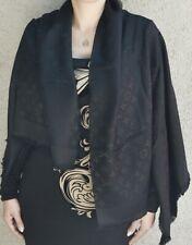 NEW LV BLACK Monogram Silk/Wool Scarf/Shawl 100% Authentic M71329 Louis Vuitton