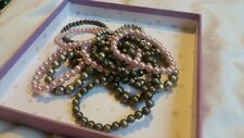 Pink And Grey Beaded Bracelets From Accessorize