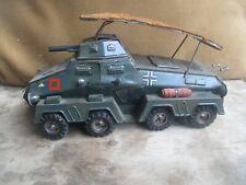 RARE TIPPCO GERMAN WW2 1940-42 WIND UP TIN TOY PUMA 8 WHEEL ARMORED CAR WH-196