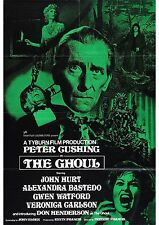 The Ghoul - Peter Cushing - John Hurt - A4 Laminated Mini Movie Poster