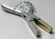 QUALITY BRASS JAW FLAT NOSE PLIER BRASS LINED SOFT JAWS FORMING HOLDING BENDING