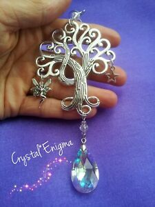 Fairy Crystal Suncatcher Tree of Life Mobile Gift Fantasy Crafts Star Beads