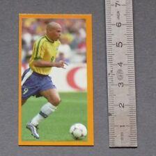 FOOTBALL CANDY STICKS CARD RONALDO BRASIL BRESIL 1998 INTER MILAN BARCELONA REAL