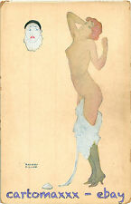 Raphael Kirchner Postcard - Woman with Pierrot Mask - K047