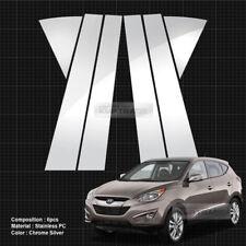 Chrome Pillar Posts Door Trim Cover 6P Set For HYUNDAI 2010 - 2015 Tucson ix35