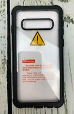Samsung Galaxy S10 Plus Case Temdan Built in Screen Protector Black Clear
