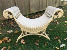 Vintage Wicker Vanity Bench Photography Prop Chair Stool Wicker By Design NC