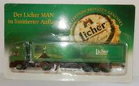 GRELL HO 1/87 CAMION REMORQUE TRUCK TRAILER MAN F2000 LICHER PILSNER BEER BIERE