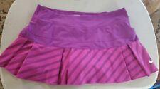 NIKE Dri-Fit Sz M Tennis Golf Running Skirt Skort Pleated Purple Pink Athletic