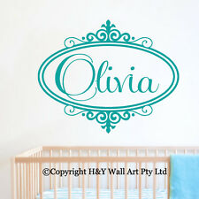 Custom Personalised Name Wall Stickers Baby Kids Nursery Decor Art Mural Decal