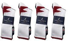 Nautica 12 Pairs Mens Sports Crew Socks Shoe Size 6-12 for 10-13 Gray Navy White