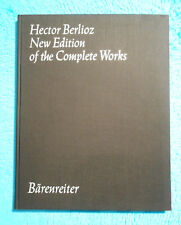 Hector BERLIOZ - New Edition of the Complete Works - Vol.19 BÄRENREITER 5459 RAR