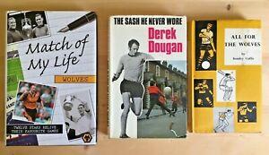 3 x Wolverhampton Wanderers books- inc. autographs of Flowers/Swinburne/Richard