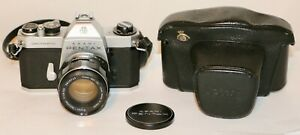 Asahi Pentax Spotmatic II +  55mm f/1.8 Super Takumar M42 + Case VERY NICE