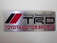 Toyota TRD MotorSports Embossed Metal Badge Emblem Sticker 86 Corolla Yaris Rav4
