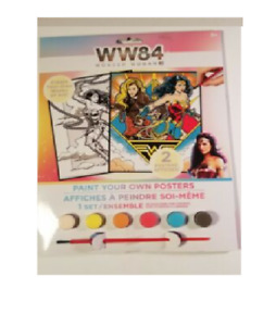 wonder woman ww84 paint your own poster kit with paints and two posters brush