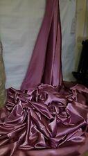 "5M new dusky pink DRESS  SATIN FABRIC..58""  WIDE"